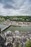 Meuse River passing through Dinant, Belgium. Royalty Free Stock Photos