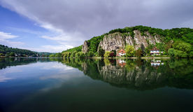 Meuse river view near Namur Royalty Free Stock Photos