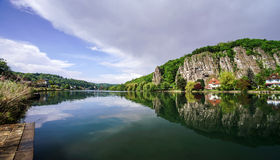 Meuse river view near Namur Stock Photography