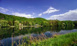 Meuse river view near Namur Stock Photos