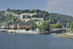 Meuse and sambre under citadelle, namur Stock Image
