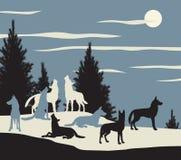 Meute de loups illustration libre de droits