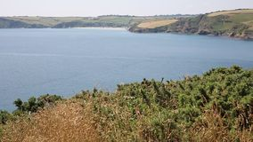 Mevagissey Bay near St Austell Cornwall England towards Pentewan Stock Images
