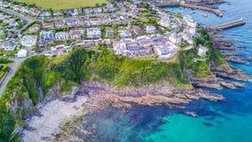 Mevagissey, Cornovaglia - vista aerea Fotografia Stock