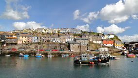 MEVAGISSEY, CORNWALL, UK – MAY 20, 2015: Mevagissey fishing port Stock Photos