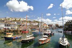 MEVAGISSEY, CORNWALL, UK – MAY 20, 2015: Mevagissey fishing port Stock Photography