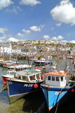 MEVAGISSEY, CORNWALL, UK – MAY 20, 2015: Mevagissey fishing port Royalty Free Stock Image