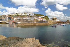 MEVAGISSEY, CORNWALL, UK: Mevagissey fishing port Royalty Free Stock Photos