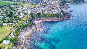 Mevagissey, Cornwall - widok z lotu ptaka Obrazy Royalty Free