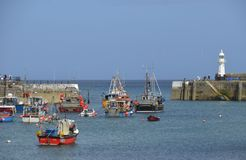 Mevagissey en Haven Stock Foto