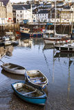 Mevagissey Fishing Harbour Cornwall England Royalty Free Stock Photo