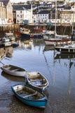 Mevagissey Fishing Harbour Cornwall England. Mevagissey fishing habour in Cornwall, England Royalty Free Stock Photo