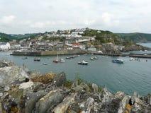 Mevagissey Hafen in Cornwall, England Stockfotos