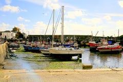 Mevagissey hamn, Cornwall Arkivbilder