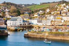 Mevagissey hamn Cornwall England arkivfoton
