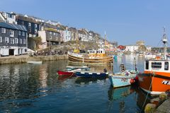 Mevagissey Harbour Cornwall Stock Photo