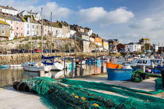 Mevagissey Harbour Cornwall England Stock Photos