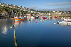Mevagissey harbour Cornwall UK at sunrise. Royalty Free Stock Photo