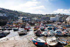 Mevagissey harbour with low tide Royalty Free Stock Photography