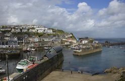 Mevagissey and Harbour Royalty Free Stock Photo