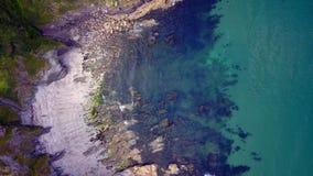 Mevagissey, les Cornouailles - vue aérienne Images libres de droits