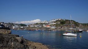 Mevagissey in St. Austell Bay. Mevagissey, cornish fishing village in St. Austell Bay in Cornwall Royalty Free Stock Photo