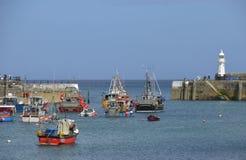 Mevagissey und Hafen stockfoto
