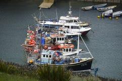 Mevagissey und Hafen stockbild