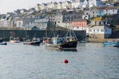Mevagisseyhaven Cornwall Stock Foto