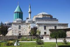 Mevlana博物馆和它的庭院 免版税库存图片