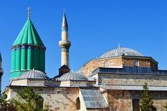 Mevlana博物馆在科尼亚中央安纳托利亚,土耳其。 免版税库存照片