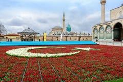Mevlana陵墓和博物馆在科尼亚,土耳其 免版税库存照片