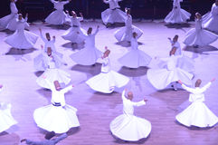 Mevlana dervishes dancing ceremony Stock Image