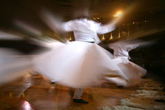 Mevlana dervishes dancing in the museum Stock Images