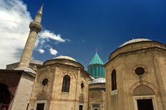 Mevlana Mausoleum. Turkey. Konya. The Mevlana Museum and Mausoleum (The Green Mausoleum, Green Dome Stock Images