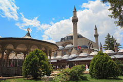 Mevlana Museum. The Mevlana museum, located in Konya, Turkey, is the mausoleum of Jalal ad-Din Muhammad Rumi Stock Photography