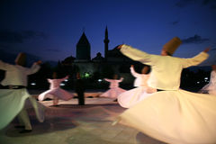 Mevlana museum and dervish Stock Image