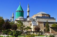 Mevlana museum i Konya centrala Anatolien, Turkiet. Fotografering för Bildbyråer