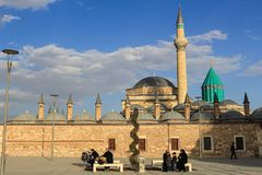 Mevlana museum i Konya, Turkiet Arkivfoto