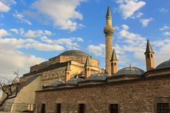 Mevlana museum i Konya, Turkiet Fotografering för Bildbyråer
