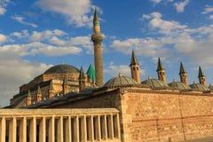Mevlana museum i Konya, Turkiet Royaltyfri Fotografi