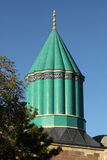 Mevlana Museum in Konya, Turkey. The green dome of the Mevlana Museum, where the founder of the Whirling Dervishes is buried. Konya, Anatolia, Turkey Royalty Free Stock Images