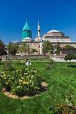 Mevlana museum och Mausoleum på Konya Turkiet Royaltyfri Fotografi