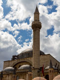 Mevlana Museum. The roof and spire of the Mevlana Museum. The Mevlana Museum is the mausoleum of Jalal ad-Din Muhammad Rumi, a Sufi mystic, and also the dervish Stock Images