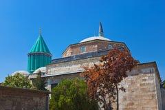 Mevlana Museum und Mausoleum bei Konya die Türkei Lizenzfreies Stockfoto
