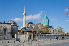 Mevlana tomb and museum mosque in Konya, Turkey , royalty free stock photo