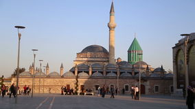 Mevlana tomb,view,tourism,travel,2016 stock footage