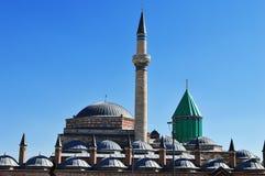 Mevlanamuseum in Konya Centraal Anatolië, Turkije. royalty-vrije stock afbeelding
