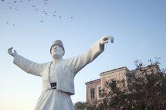 Mevlevi statue. In Cunda/Ayvalik/Turkey Royalty Free Stock Image