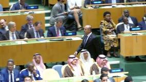 Mevlut Cavusoglu na assembleia geral de United Nations video estoque